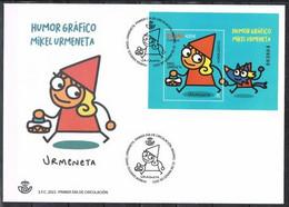 [D0013.1] España 2021; FCD Humor Gráfico. Mikel Urmeneta (NS) - FDC