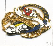 Pin's Transport - Train / TGV EuroStar - Bonne Année 1995. Est. Ballard. Zamac Base Dorée. T798-24 - TGV