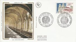 FDC 1993 ABBAYE DE LA CHAISE DIEU HAUTE LOIRE - 1990-1999