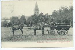 Leopoldsburg - Bourg-Leopold - Camp De Beverloo Vue Prise Du Parc D'Artillerie ( Attelage ) - Leopoldsburg (Camp De Beverloo)
