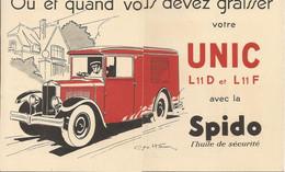 TRIPTIQUE PUBLICITAIRE  DE L HUILE SPIDO POUR L AUTOMOBILE - Unclassified