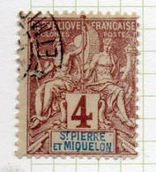 37CRT227 - ST PIERRE ET MIQUELON 1892 ,  Yvert N. 61 Usato. - Used Stamps