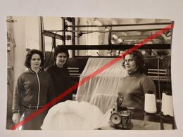 Photo Vintage. Original. Industrialisation. Usine De Tricots. Les Tisserands. L'URSS - Mestieri