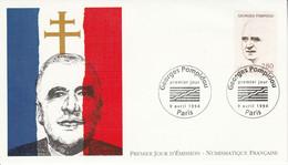 FDC 1994 GEORGES POMPIDOU - 1990-1999