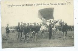 Leopoldsburg - Bourg-Leopold - Camp De Beverloo Aéroplane Monté Par Monsieur Le Général Ruet - Leopoldsburg (Camp De Beverloo)