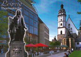 1 AK Germany / Sachsen * Die Thomaskirche In Leipzig Und Das Denkmal Von Von Johann Sebastian Bach * - Leipzig