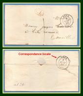 LSC SEES Type 15 (59) 1850 + Tx 1 + CL (correspondance Locale, Distribuée Même Jour) TB - 1849-1876: Klassik