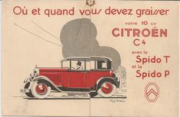 TRIPTIQUE PUBLICITAIRE  DE L HUILE SPIDO POUR L AUTOMOBILE DESSIN DE TEO HAM - Unclassified