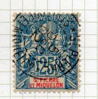 37CRT250 - ST PIERRE ET MIQUELON 1900 ,  Yvert N. 75 Usato. - Used Stamps