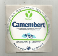 Autocollant,  Camembert , Fromage Suisse , 1041 OULENS - Stickers
