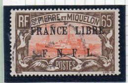 37CRT267 - ST PIERRE ET MIQUELON 1941 ,  Yvert N. 240 Usato. SPST Nera - Used Stamps