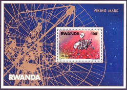 Rwanda Ruanda 1977 OCBn°  Bloc 74 *** MNH Cote 60,00 Euro Viking Sur Mars - 1970-79: Nuevos