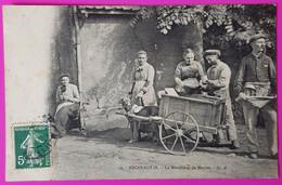 Cpa Friville Escarbotin Marchand De Moules Carte Postale 80 Somme Attelage Chiens Voiture à Chien Proche Le Tréport Eu - Friville Escarbotin