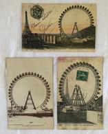 Lot De 3 Cartes -Paris-La Grande Roue-751 - Otros Monumentos