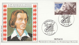 MONACO FDC 1986 FRANZ LISZT - FDC