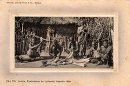 ANGOLA - LUNDA  -  Pescadores Do Luhando Fazendo Rêde - Angola