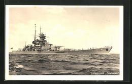 AK Schlachtschiff Gneisenau Der Kriegsmarine, Versenkt 1945 Als Sperrschiff Vor Gdingen - Warships