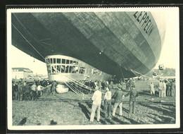 AK Haltemannschaft An Haltetauen Und Stroppen Vom Zeppelin - Airships