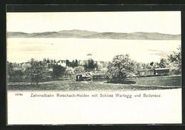 AK Rorschach-Heiden, Zahnradbahn Mit Schloss Wartegg Und Bodensee, Bergbahn - Unclassified