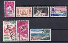 WALLIS ET FUTUNA - ANNEES COMPLETES 1963/65 AVEC POSTE AERIENNE - YVERT N°168/171 + PA 21/23 ** MNH - COTE = 102 EUR - Full Years
