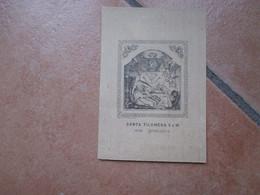 Immagine Sacra SANTINO SANTA FILOMENA V. E M. Ora Pro Bis Al Verso ORAZIONE Stampa Su Cartoncino - Devotion Images