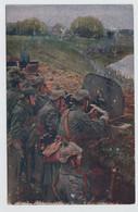 DER EUROPÄISCHE KRIEG 1914 / 16    MASCHINENGEWEHR IN FEUERSTELLUNG    2 SCANS - Oorlog 1914-18