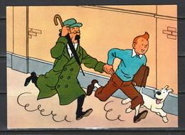 """CP Tintin : Editions YVON N° 4 """"mouchetée"""" Neuve : Les Aventures De Tintin Par Hergé. ( Voir Photos ) - Comics"""