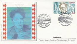 MONACO FDC 1989 JEAN COCTEAU - FDC