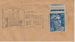 France 1950s Commercial Cover Of D'Auby Fertilizers With A Banner Paris Fair Postmark With A Sailing Ship In The Flag - Storia Postale