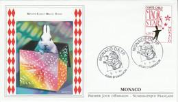 MONACO FDC 1999 MONTE CARLO MAGIC STARS - FDC