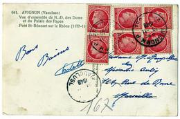VAUCLUSE CP 1948 AVIGNON R.P. SUR 6 X 1F MAZELIN - 1921-1960: Modern Period