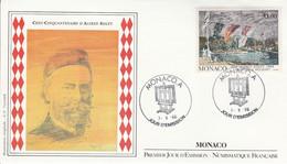 MONACO FDC 1989 PEINTURE DE SISLEY - FDC