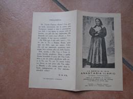 Immagine Sacra SANTINO Devotion Image Serva Di Dio ANASTASIA ILARIO Terziaria Domenicana S.Domenico Magg.Napoli - Devotion Images