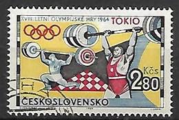 TCHECOSLOVAQUIE    -  1964.   Y&T N° 1359 Oblitéré .  Haltérophilie - Gebraucht