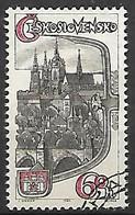 TCHECOSLOVAQUIE    -  1964.   Y&T N° 1360 Oblitéré .  Chateau De Prague - Gebraucht