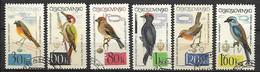 TCHECOSLOVAQUIE    -  1964.   Y&T N° 1361 à 1366 Oblitérés . Oiseaux.  Série Complète. - Gebraucht