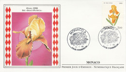 MONACO FDC 1990  SERIE EXPO FLORALE OSAKA - FDC