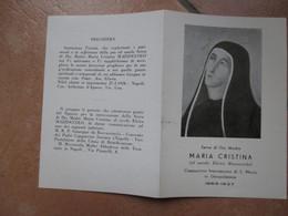 Immagine Sacra SANTINO Devotion Image Serva Di Dio Madre MARIA CRISTINA Elvira Mazzoccolo Cappuccina Francescana - Devotion Images