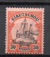 - KIAO-TCHEOU / COLONIE ALLEMANDE N° 6 Neuf * - 30 P. Rouge Et Noir S. Saumon 1900 - Cote 24,00 € - - Colony: Kiauchau