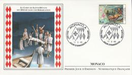 MONACO FDC 1990 CROIX ROUGE SAINTE DEVOTE - FDC