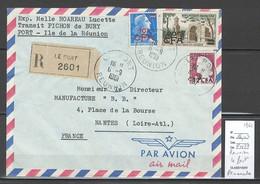 Reunion - Lettre  LE PORT - RECOMMANDEE - 1961 - Covers & Documents
