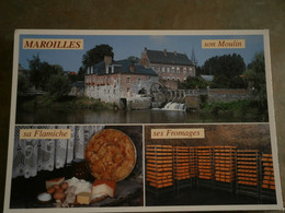 59 - MAROILLES - MULTI VUES - CPSM VIERGE - LES FROMAGES - LE MOULIN - LA FLAMICHE - Other Municipalities