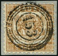 BADEN 20b BrfStk, 1864, 9 Kr. Gelbbraun, Zentrischer Nummernstempel 153, Prachtbriefstück, Gepr. Seeger, Mi. (120.-) - Baden