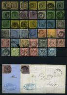 BADEN O,Brief , Saubere Partie Von 41 Gestempelten Werten Und 2 Briefen, Etwas Unterschiedliche Erhaltung Mit Diversen P - Baden