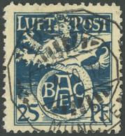 BAYERN F I O, 1912, 25 Pf. Flugpostmarke, üblich Gezähnt, Pracht, Mi. 400.- - Bavaria