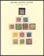 BAYERN O,Brief , 1849-1920, Alte Gestempelte Sammlung Auf Schaubek Seiten Mit Diversen Guten Werten In Unterschiedlicher - Bavaria