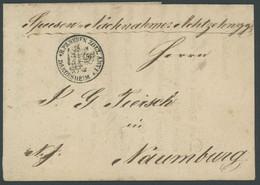 BRAUNSCHWEIG 1836, Fuhrmannsbrief Von BRAUNSCHWEIG Nach Naumburg, K1 ZOLL-AMT DARDESHEIM, Pracht - [1] Prephilately