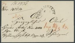BRAUNSCHWEIG HELMSTEDT, Halbkreisstempel Auf Postvorschussbrief, Pracht - [1] Prephilately
