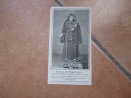 Immagine Sacra SANTINO Devotion Image Santa Maria Francesca Delle Cinque Piaghe Di Gesù Cristo Vico Toledo NAPOLI - Devotion Images