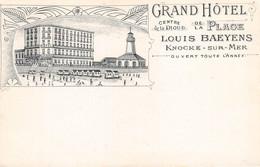 CPA -  Belgique, KNOKKE /  KNOCKE-SUR-MER, Grand Hotel De La Plage - Knokke